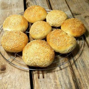 Rezept für Burger Brötchen mit Sauerteig 2