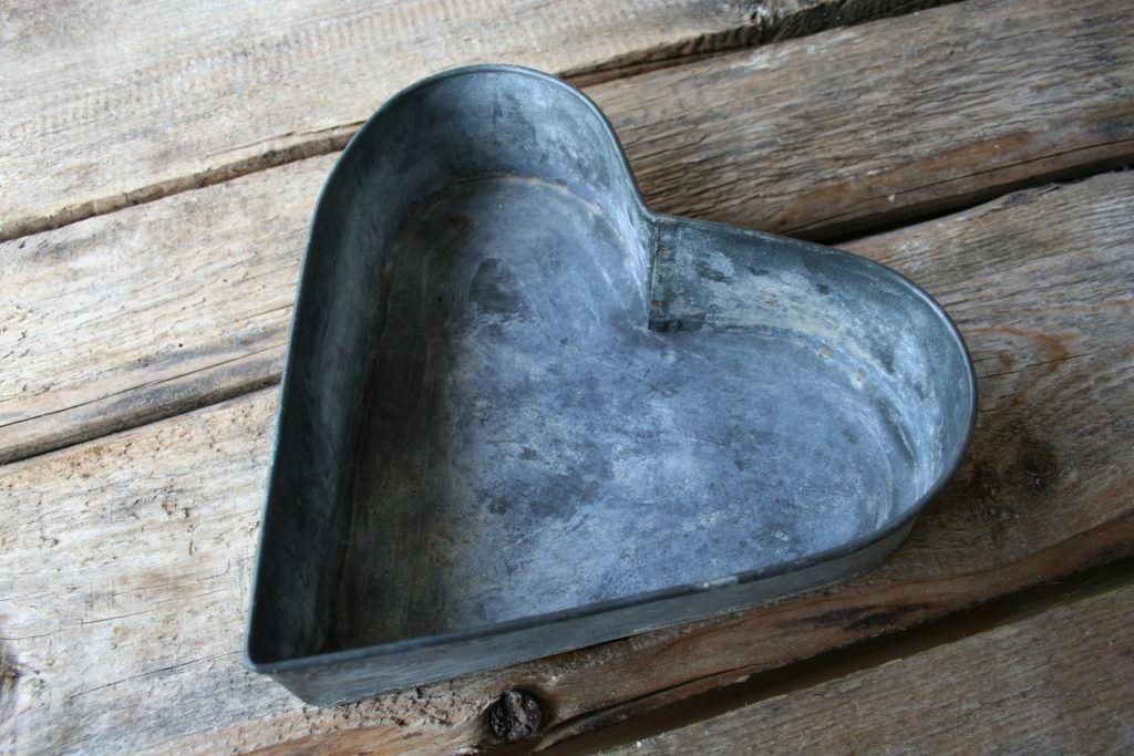 Herzform aus Metall 2