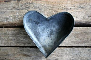 Herzform aus Metall 14