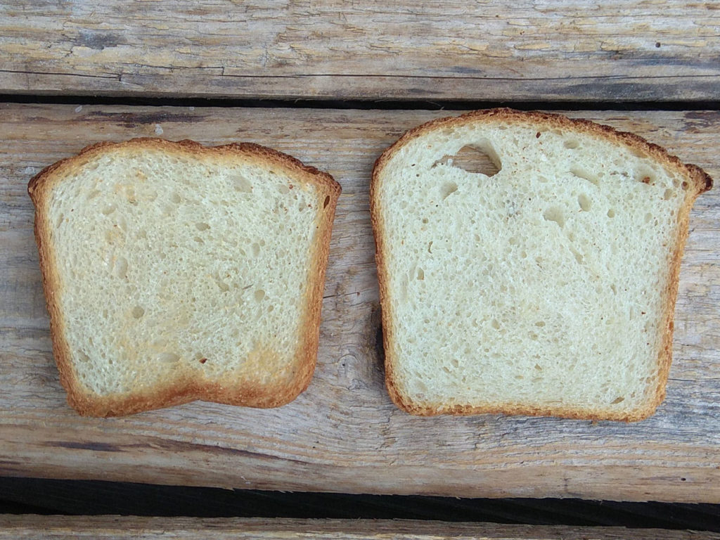 Homemade Toast bread toasted and untoasted