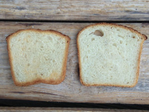 Das selbstgebackene Toastbrot schmeckt auch ungetoastet verdammt lecker